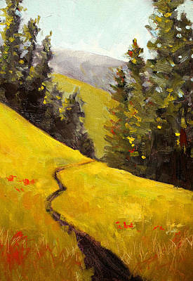 Painting - Along The Cascade Trail by Nancy Merkle