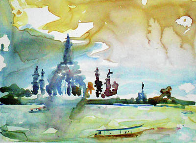 Painting - Along The Chao Phaya River by Tom Simmons