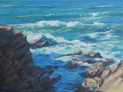 Painting - Along The Cliff by Karen Ilari