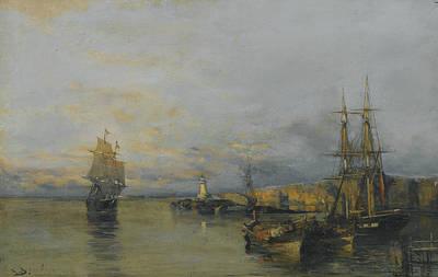 Painting - Along The Coast by Konstantinos Volanakis