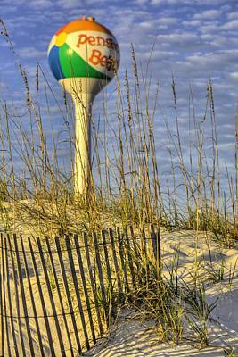 Watertower Photograph - Along The Coast Of Pensacola Beach by JC Findley