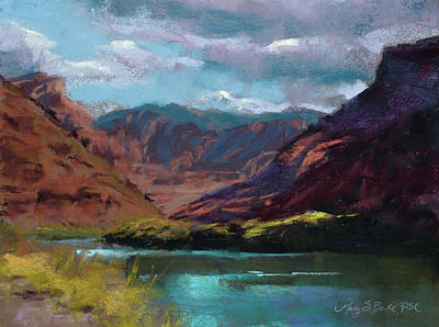 Painting - Along The Colorado by Mary Benke