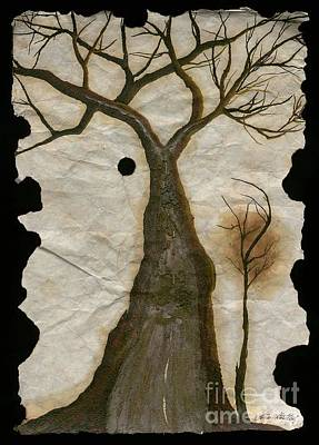 Painting - Along The Crumbling Fork In The Road Of The Tree Of Life Acfrtl by Talisa Hartley