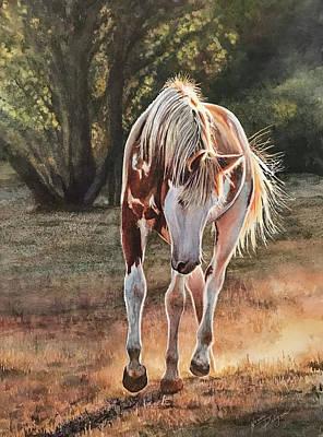 Wall Art - Painting - Along The Dusty Trail by Nancy Delgado