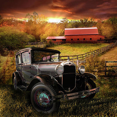 Photograph - Along The Fences At Sunset by Debra and Dave Vanderlaan