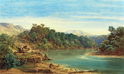 Painting - Along The Jordan River  by August Loffler