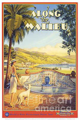 Malibu Painting - Along The Malibu by Nostalgic Prints