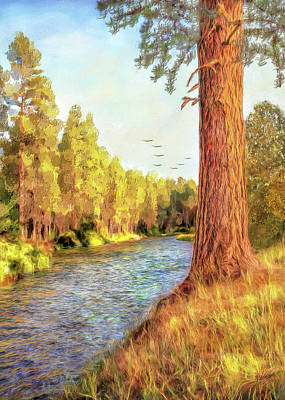 Digital Art - Along The Metolius by Bill Johnson