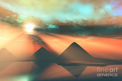 Egyptian Mummy Painting - Along The Nile by Corey Ford