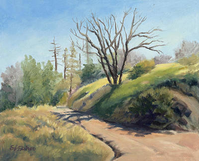 Painting - Along The Pacific Crest Trail by Sandy Fisher