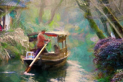 Digital Art - Along The Quiet River by Rick Lawler