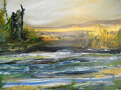 Along The River Art Print by Linda King