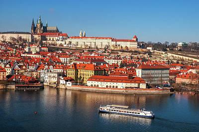 Photograph - Along The River Vltava. Old Prague by Jenny Rainbow