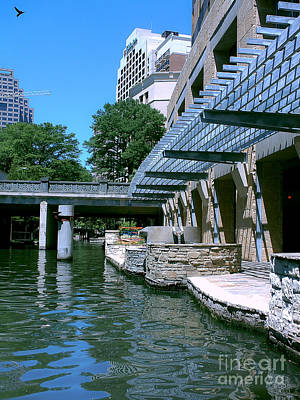 Photograph - Along The Riverwalk by Methune Hively