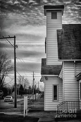 Photograph - Along The Road Black And White by Karen Adams