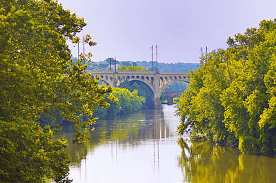 Schuylkill Digital Art - Along The Schuylkill River In Manayunk by Bill Cannon