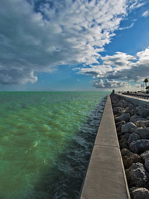 Photograph - Along The Seawall In Key West by Bob Slitzan