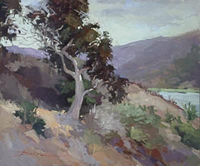 Betty Billups Wall Art - Painting - Along The Shore - Plein Air  Catalina Island by Betty Jean Billups