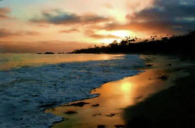 Laguna Beach Mixed Media - Along The Shore by John Loyd Rushing