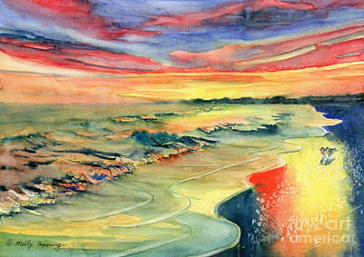 Painting - Along The Shore by Melly Terpening