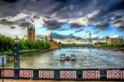Photograph - Along The Thames by Ken Johnson
