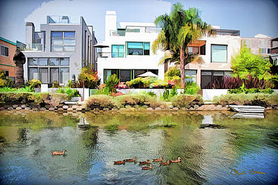 Photograph - Along The Venice Canals by Chuck Staley