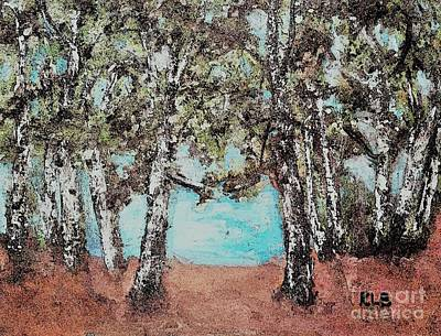 Painting - Along The Waters Edge by Rita Brown