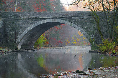 Fall Photograph - Along The Wissahickon In Autumn by Bill Cannon