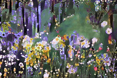 Mixed Media - Along The Woodland Path by Susan Maxwell Schmidt
