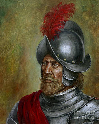 Painting - Alonso De Alvarado by Arturas Slapsys
