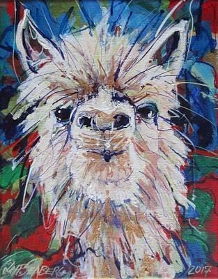 Painting - Alpaca Crazed by Jeff Seaberg