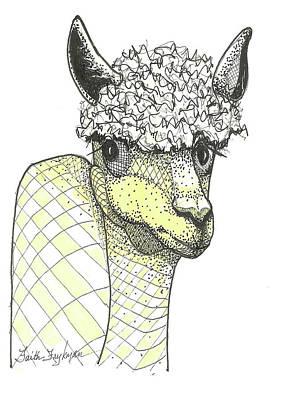 Alpaca Art Print by Faith Frykman