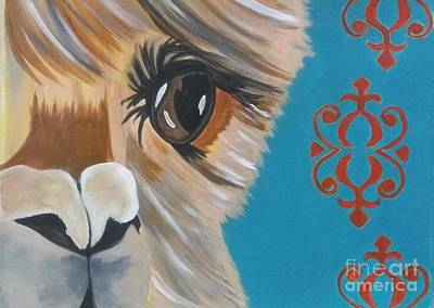 Alpaca Painting - Alpaca by LKB Art and Photography