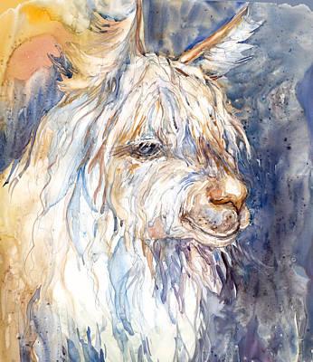 Alpaca Painting - Alpaca by Peggy Wilson