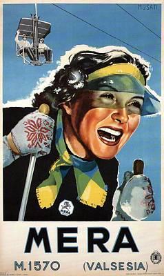 Mixed Media - Alpe Di Mera, Valsesia - Retro Travel Poster - Vintage Poster by Studio Grafiikka