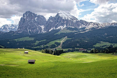 Photograph - Alpe Di Siusi Meadows In The Dolomites by Carolyn Derstine