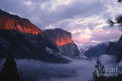Photograph - Alpen Glow On El Capitan by Stan and Anne Foster