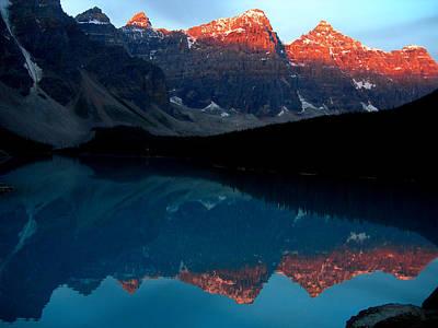 British Holiday Parks Photograph - Alpenglow by Jim Chamberlain