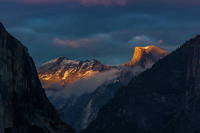 Photograph - Alpenglow On Half Dome by Constance Reid