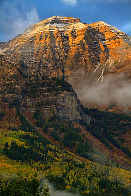 Alpenglow On Mt. Timpanogos Art Print