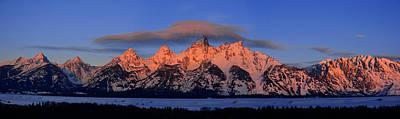 Photograph - Alpenglow Tetons 2 by Raymond Salani III