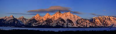 Photograph - Alpenglow Tetons by Raymond Salani III