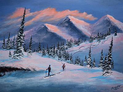Alpenglow Winter Adventure 4 Art Print