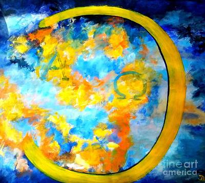 Painting - Alpha And Omega by Dagmar Helbig