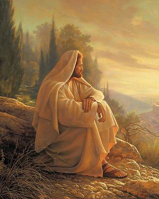 Contemplating Painting - Alpha And Omega by Greg Olsen