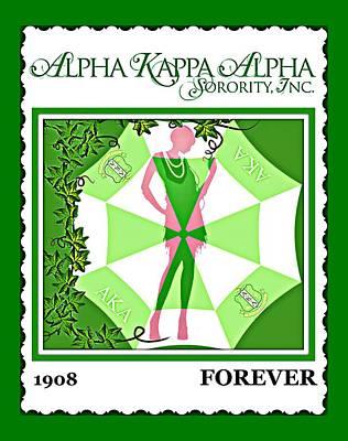 Alpha Kappa Alpha Art Print by Lynda Payton