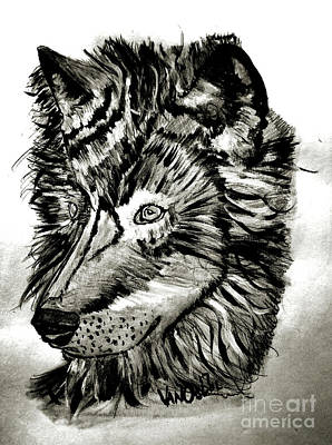 Yellowstone Mixed Media - Alpha Male - The Wolf by Scott D Van Osdol