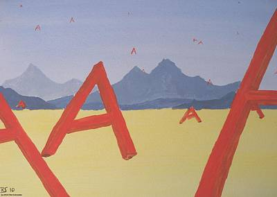 Painting - Alpha by Rod Schneider