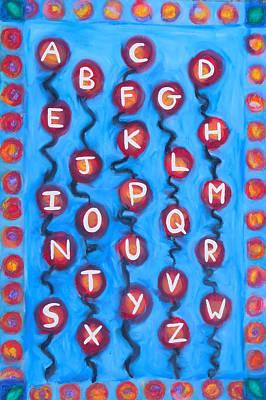 Alphabet Balloons Original by Elizabeth Dawson
