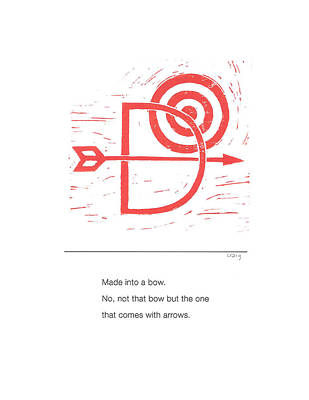 Painting - Alphabet Haiku Letter D by Carrie MaKenna